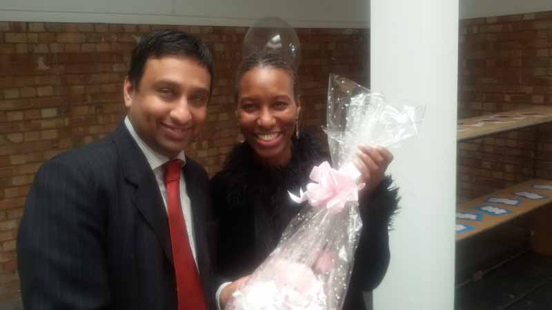 Juliyah with Cllr Shah